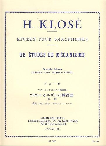 KLOSE - Estudios de Mecanismo (25) para Saxofon (Mule)