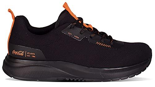 Tênis Coca-Cola Shoes, X-Fly Believe, adulto-unissex, Black/Laranja, 37