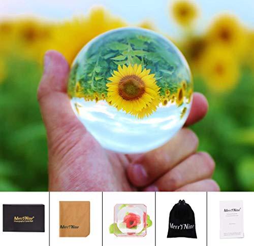 MerryNine Kristall-Kugelobjektiv für Fotografie, Dekoration, Freundschaftsgeschenke, Geschenke für Fotografen, 60 mm, mit Geschenkbox