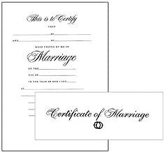 Certificate-Marriage w/Envelope