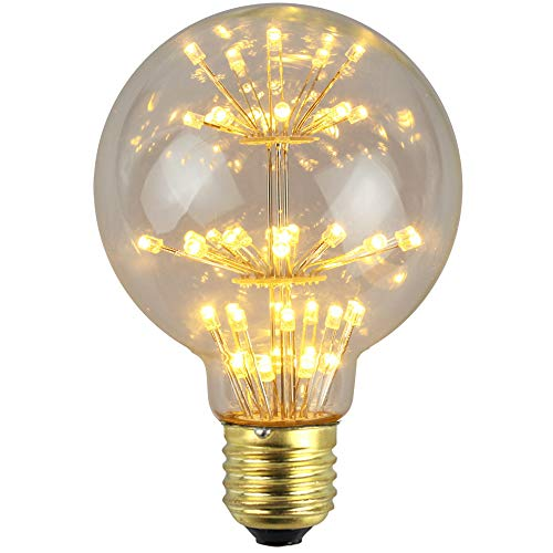 JFS E27 Edison-Leuchtmittel, Edison-Lampe, klar, Glas-Baum Filament, 3 W, 2300 K, AC85-265 V, für Restaurants, Shops, Cafés, Bars und Supermärkte