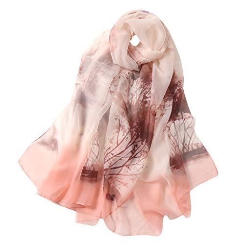 Ashui Seidenschals Damen 100% Seiden Schal, Muttertag Geschenk,Schal aus reiner Seide, Elegante Seidentuch Hohe Qualität Hautfreundlich Schal Hals-Tuch Motiv Klassischer Damen-Schal Stola