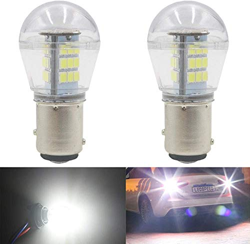 ALOPEE 2-Pack 1157 BAY15D 1016 1034 7528 2057 2357 LED a Luce Bianca 9-30V-DC, 2835 33 SMD Lampadine di Ricambio per Interni RV Camper Tail Back Up Reverse Bulbs Day Running Light