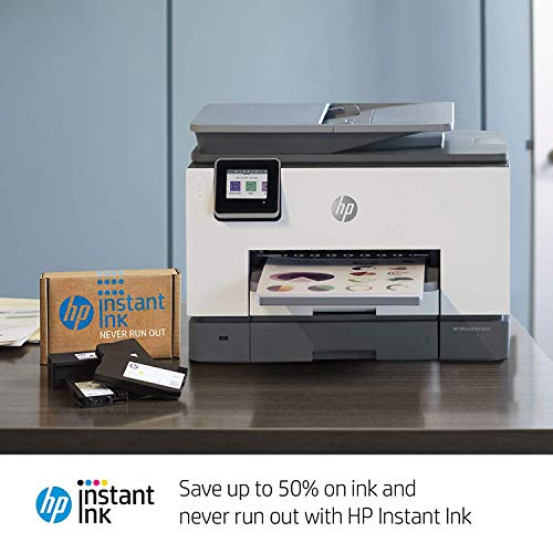 HP OfficeJet Pro 9025 All-in-One Wireless Printer Single-pass (Automatic) Document Feeder and Two Paper Trays  Smart Home Office Productivity  Instant Ink and Amazon Dash Replenishment Ready (1MR66A)