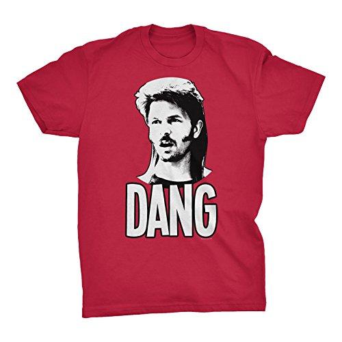 DANG - Funny Redneck Mullet Vintage Movie T-Shirt - Red-XL