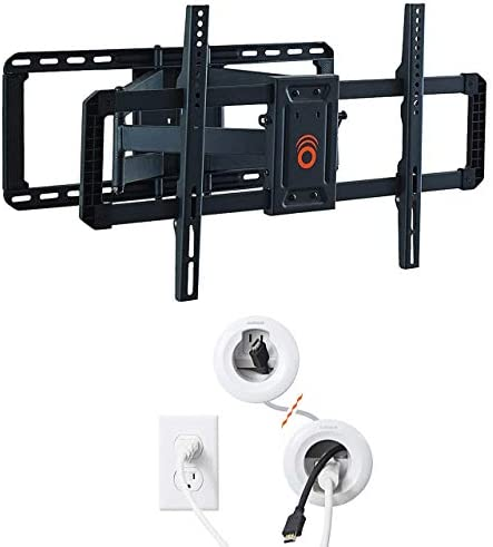 ECHOGEAR Full Motion Articulating TV Wall Mount Bracket for 42 85 TVs and in Wall Power Kit product image