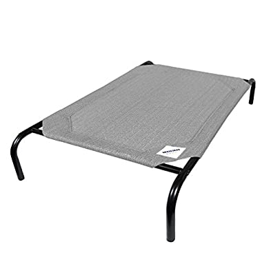 The Original Elevated Pet Bed By Coolaroo - Large Grey