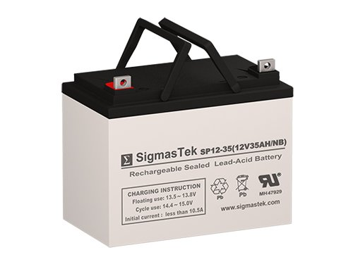 Scag Power Equipment STG-Series Replacement Battery - 12 Volt 35AH U1 AGM Battery with Nut & Bolt Terminal by SigmasTek