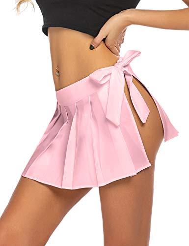 Yeahdor Womens High Waist Ruffle Trumpet Mini Skirt Modern Latin Tango Salsa Rumba Dance Dress