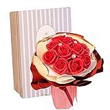 SOMESUN Seifenblüten mit Geschenkbox, Romantische Geschenke Soap Rose und Rose Blumen...