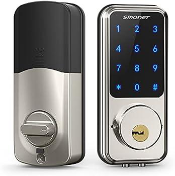 Smonet Keyless Entry Door Touch Bluetooth Voice Control Smart Lock