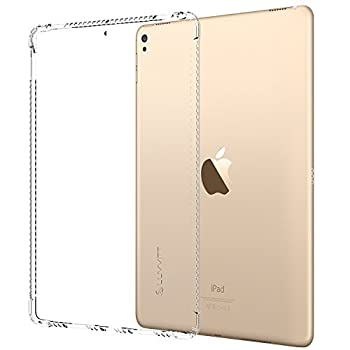 iPad Pro 12.9 2017 Case LUVVITT Clear Grip Flexible Soft Transparent TPU Rubber Back Cover for The New iPad Pro 2 12.9  2017  Air Bounce Shockproof Technology - Clear
