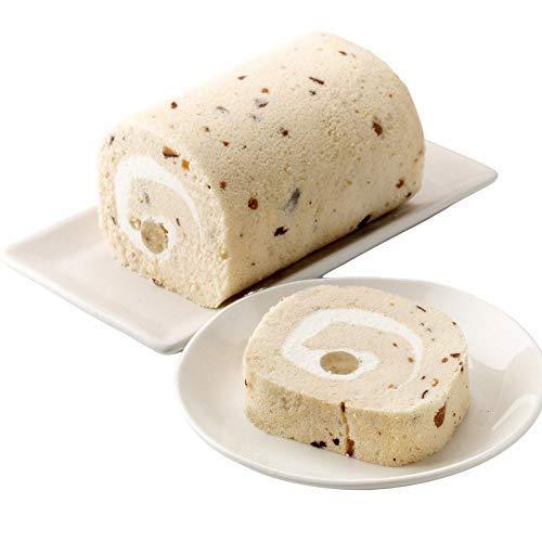 新杵堂 渋皮入栗きんとんロール 1本 ロールケーキ お土産 ギフト お歳暮 栗 マロン | しっとりとした弾力 | ふわふわ触感