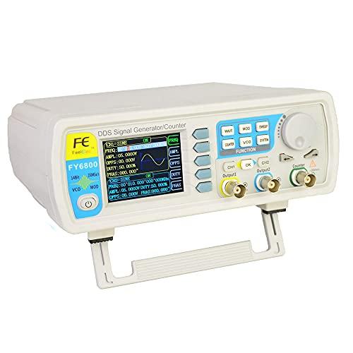 Lfhelper DDS Generator FY6800 - Generador de señal arbitraria, 60 MHz, generador de forma de onda digital de dos canales, onda sinusoidal, onda triangular, onda de impulsos y onda dentada