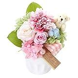花由 プリザーブドフラワー パレット teddy くまver 日時指定便