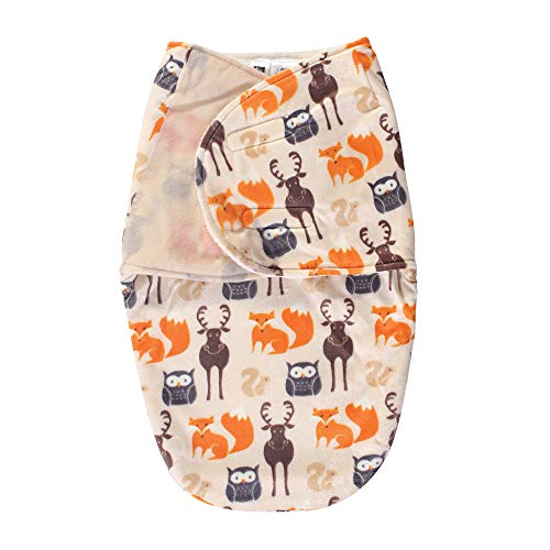 Hudson Baby Unisex Baby Plush Swaddle Wrap, Forest, 0-3 Months