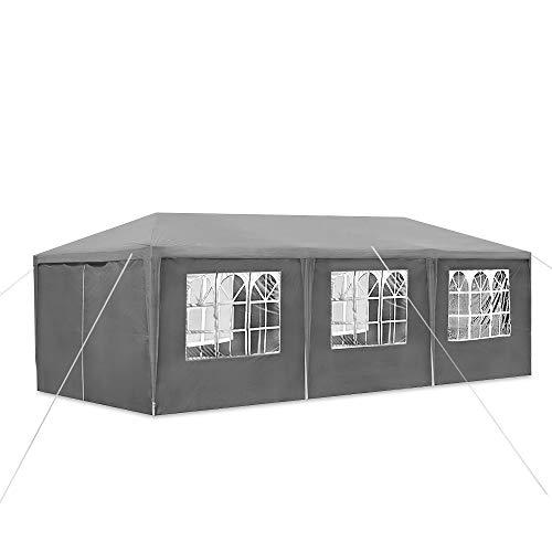 Fscm Gazebo Party Tent Garden Gazebo Waterproof PE Tarpaulin Steel Tubing Gazebo Beer Tent with Side Panels Window Door with Zip for Garden, Patio, Party, Market