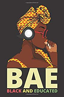 BAE Black and Educated: Melanin Girl Vacation Planner Notebook 6x9 Inches 100 Pages Travel Journal Trip Planner and Vacation Diary Checklists, ... Pride African American DNA, Black Women