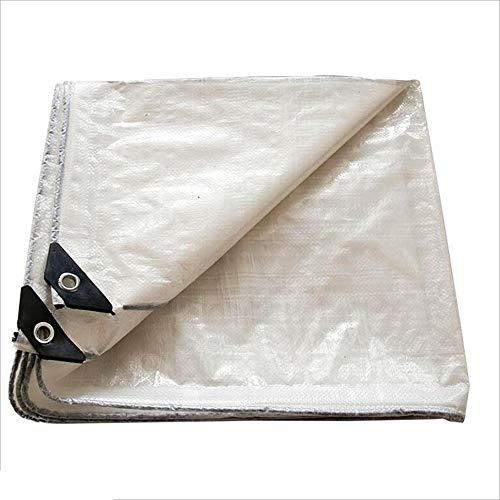 Zaixi PE blanc bâche couverture imperméable, idéal pour bâche de tente auvent, bateau, VR ou piscine couverture -0.3mm 120g / m2 Grande dimension (taille : 7mx7m)