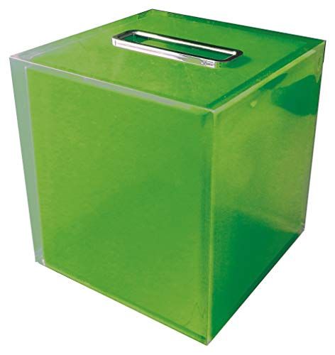 Gedy RA020400000 Porta-Pañuelos, Verde, Cuadrado