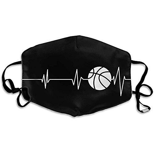 Mode Cover, Daily Decor Mund Blocking Cover, Herzschlag Basketball Schwarz und Weiß