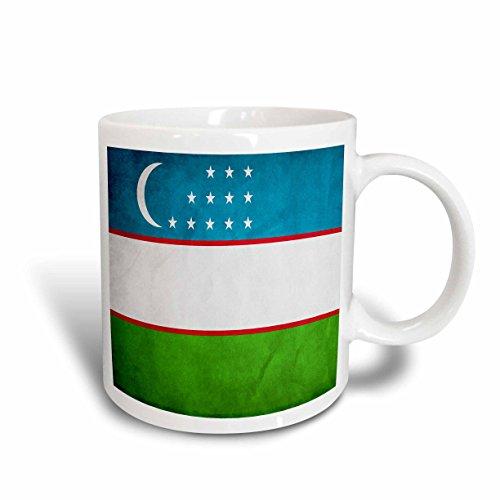 3dRose Keramiktasse mit USBEKISTAN-Flagge, 325 ml, mehrfarbig