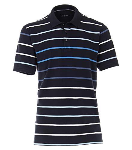 CASAMODA Herren Polo-Shirt gestreift Mittelblau 3XL