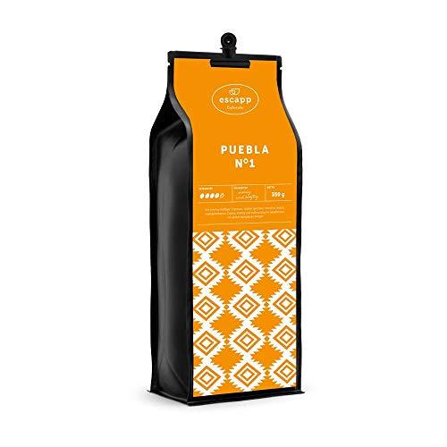 escapp Länderkaffee Mexico PUEBLA N°1 / ganze Bohne / 350 Gramm / handgeröstet / magenschonender PREMIUM Kaffee / frische säurearme Langzeitröstung
