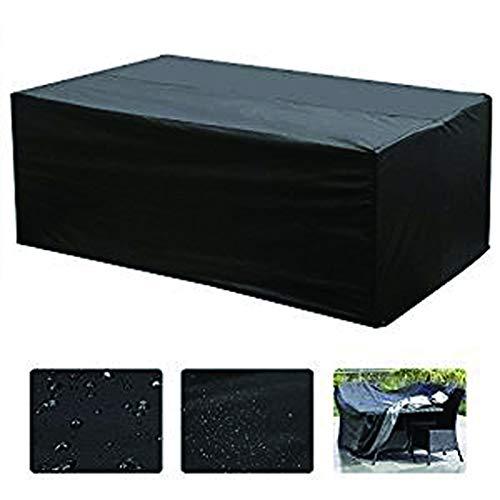 NMP Ensemble De Table De Jardin for Table D'extérieur Et Siège Rectangulaire Protection Contre Le Vent Et Les Rayons UV (200x160x70cm-noir)