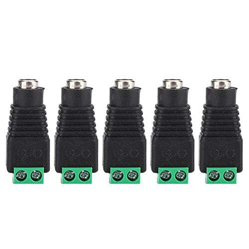 ASHATA DC-aansluitstekker, 5 stuks DC naar vrouwelijke eindstekker Zwart Groen Power Jack 3D-printeraccessoires 12V, 3D-printerset Geschikt voor beveiliging, bewakingsapparatuur, routers en schakelaar