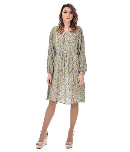 OTTOD'AME dames jurk groen bloemenpatroon FCT DA3515