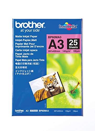 Brother BP-60MA3 Inkjetpapier matt A3 25BL 145g/qm für MFC-6490CW 6890CDW