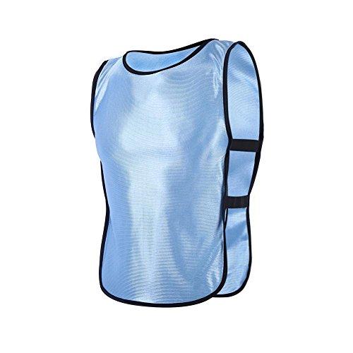 VGEBY1 Chaleco para niños Chaleco de Chaleco para Deportes al Aire Libre Entrenamiento, Chaleco de Sarga de Actividad voluntaria de Chaleco, Chaleco para niños, 5 Colores(Azul)