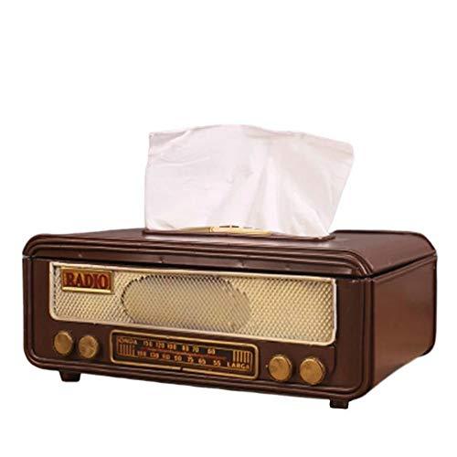 昭和レトロティッシュボックス ラジオ レトロ おしゃれ アンティーク プレゼント インテリア リビング 寝室 玄関 ヴィンテージ