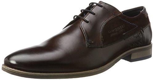 Bugatti 312164041134, Zapatos de Cordones Derby Hombre, Marrón (Dark Brown/Dark Brown), 40 EU
