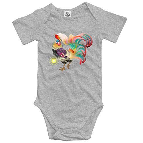 Klotr Ropa para Bebé Niñas Niños Lifelike Rooster Newborn Bodysuits Short Sleeved Romper Jumpsuit Outfit Set