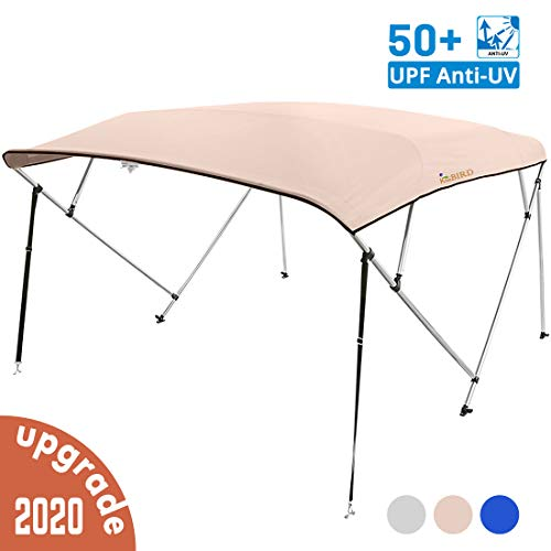 Purchase KING BIRD 4 Bow Bimini Boat Top Cover Sun Shade Boat Canopy Waterproof 1 InchÂ...