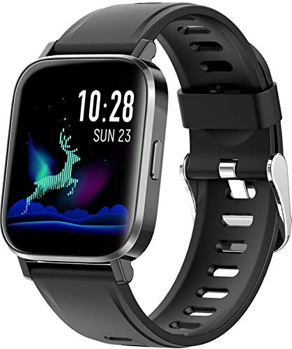 """RUNDOING Smart Watch for Men Women,1.54"""" Fitness Tracker iP68 Waterproof Watch with Heart Rate Monitor, Calorie Counter,Pedometer Smartwatch Compatible for Android Phones iPhone"""