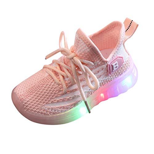 HDUFGJ Kinder LED Schuhe Outdoor Leuchtend Sportschuhe Atmungsaktives Ultraleicht Blinkschuhe Schuh Turnschuhe Mesh Soft Soled Laufschuhe