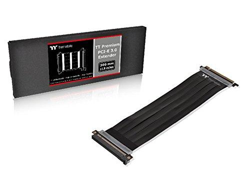 Thermaltake AC-045-CN1OTN-C1 TT Premium PCI-E x16 3.0 Extender Riser Cable 300mm Graphic Cards Black