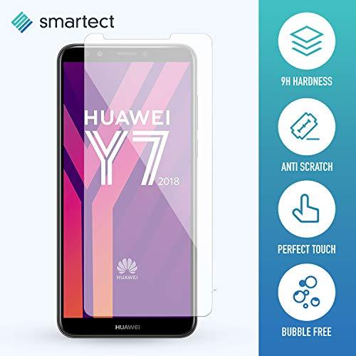 smartect Panzerglas kompatibel mit Huawei Y7 2018 [2 Stück] - Displayschutz mit 9H Härte - Blasenfreie Schutzfolie - Anti Fingerprint Panzerglasfolie - 2