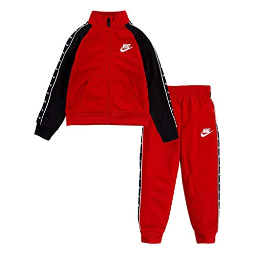 Nike Tuta da Neonato Swoosh Tape Tricot Rossa 66G343-U10 (24 M)
