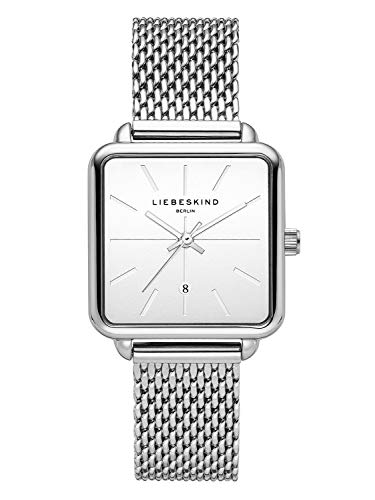 Liebeskind Berlin Damen Analog Quarz Armbanduhr mit Edelstahlarmband LT-0150-MQ