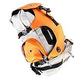 F Fityle Bolsillos múltiples Roller Skates Carrier Bag para Laptop iPad Libros Botellas de Agua Sombrillas Lentes de Sol Acerca de 36 x 19 x 53 cm - Naranja, 36x19x53cm