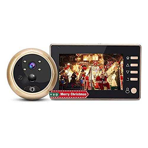 Mirilla Digital,Cámara Mirilla,Visor de Mirilla de la Puerta Pantalla LCD 4.3inch+24 Horas de Seguimiento+Tecnología de División PMW,Mirilla Electrónica Ojo de Gatopara Seguridad de Casa