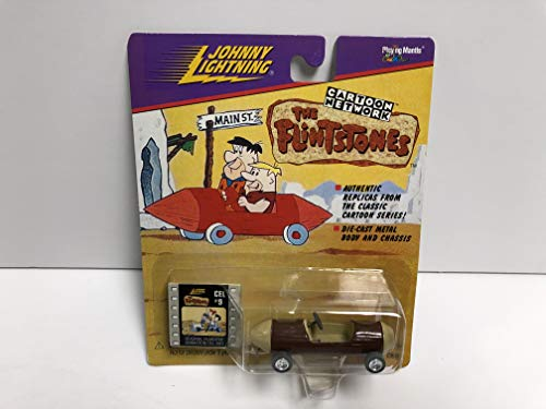 The Flintstones Barney Rubble's Sports Car JOHNNY LIGHTNING 1998 diecast with cel