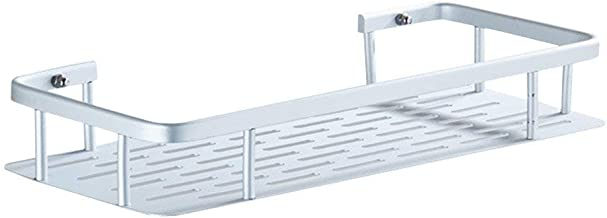 Strong Carrying Capacity OUNONA Bath Bathroom Shower Shelf Stainless Steel Storage Basket with Suction Kitchen Organizer