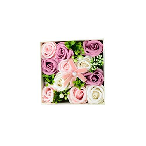 Minkissy Soap Flower Geschenkbox Valentinstag duftende Rosenblätter, Geschenk für Jubiläum / Hochzeit / Muttertag