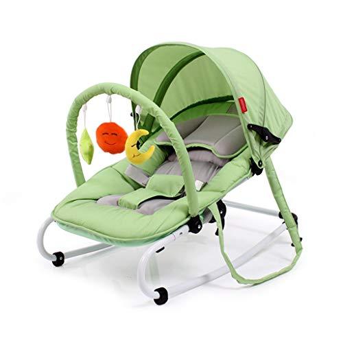 Xiao Jian- Chaise à Bascule pour bébé Chaise pour bébé inclinable, Chaise Confort, Berceau pour Nouveau-né Shake Shaker Swing Chaise berçante bébé (Couleur : Green)