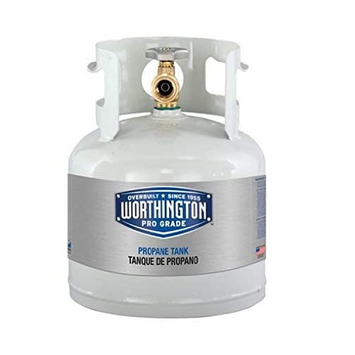 Worthington 281149 1-Gallon Steel Propane Cylinder With Type 1 With Overflow Prevention Device Valve 3